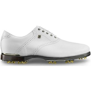 フットジョイ メンズ シューズ・靴 ゴルフ Icon Black Saddle Golf Shoes White/White|fermart-shoes