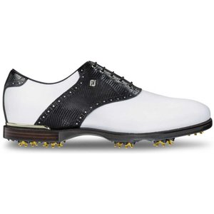 フットジョイ メンズ シューズ・靴 ゴルフ Icon Black Saddle Golf Shoes White/Black|fermart-shoes