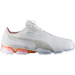プーマ メンズ シューズ・靴 ゴルフ TITANTOUR IGNITE Premium DISC Golf Shoes Gray Violet/Vibrant Orange|fermart-shoes