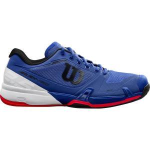 ウィルソン メンズ シューズ・靴 テニス Rush Pro 2.5 Tennis Shoes Blue/White/Red|fermart-shoes
