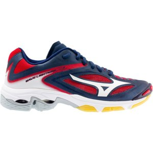 ミズノ レディース シューズ・靴 バレーボール Mizuno Wave Lightning Z3 Volleyball Shoes Navy/Red|fermart-shoes