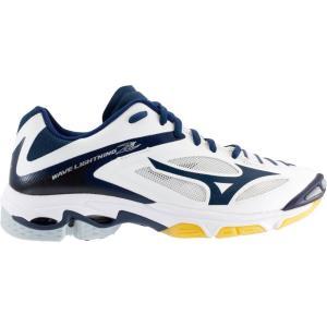 ミズノ Mizuno レディース シューズ・靴 バレーボール Wave Lightning Z3 Volleyball Shoes White/Navy fermart-shoes