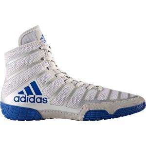 アディダス adidas メンズ シューズ・靴 レスリング adizero Varner Wrestling Shoes Grey/Blue|fermart-shoes