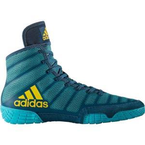 アディダス adidas メンズ シューズ・靴 レスリング adizero Varner Wrestling Shoes Blue/Yellow|fermart-shoes