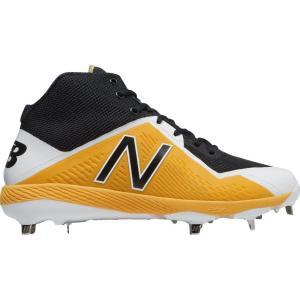 ニューバランス メンズ シューズ・靴 野球 New Balance 4040 V4 Mid Metal Baseball Cleats Yellow/Black|fermart-shoes