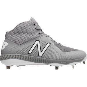 ニューバランス メンズ シューズ・靴 野球 New Balance 4040 V4 Mid Metal Baseball Cleats Grey/Grey fermart-shoes