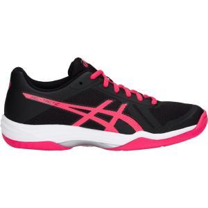 アシックス レディース シューズ・靴 バレーボール Gel-Tactic 2 Volleyball Shoes Black/Pink|fermart-shoes