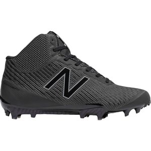 ニューバランス メンズ シューズ・靴 ラクロス New Balance Burn X Mid Lacrosse Cleats Black/Black|fermart-shoes