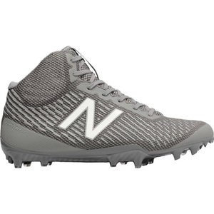 ニューバランス New Balance メンズ シューズ・靴 ラクロス Burn X Mid Lacrosse Cleats Grey/White|fermart-shoes