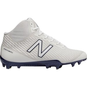 ニューバランス メンズ シューズ・靴 ラクロス New Balance Burn X Mid Lacrosse Cleats White/Blue|fermart-shoes