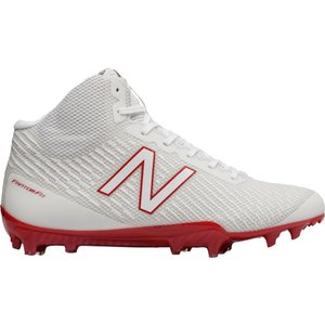 ニューバランス メンズ シューズ・靴 ラクロス New Balance Burn X Mid Lacrosse Cleats White/Red|fermart-shoes
