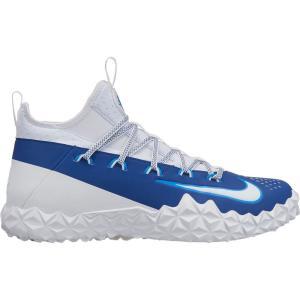 ナイキ Nike メンズ シューズ・靴 ラクロス Alpha Huarache 6 Elite TF Lacrosse Cleats White/Blue|fermart-shoes