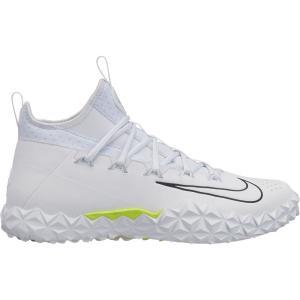 ナイキ Nike メンズ シューズ・靴 ラクロス Alpha Huarache 6 Elite TF Lacrosse Cleats White/Volt|fermart-shoes