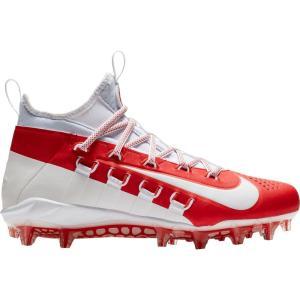 ナイキ Nike メンズ シューズ・靴 ラクロス Alpha Huarache 6 Elite Lacrosse Cleats White/Red|fermart-shoes