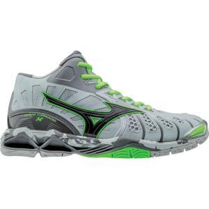 ミズノ Mizuno メンズ シューズ・靴 バレーボール Wave Tornado X Mid Volleyball Shoes Grey/Green fermart-shoes