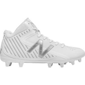 ニューバランス メンズ シューズ・靴 ラクロス New Balance Rush LX Mid Lacrosse Cleats White/White|fermart-shoes
