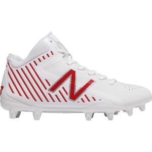 ニューバランス メンズ シューズ・靴 ラクロス New Balance Rush LX Mid Lacrosse Cleats White/Red|fermart-shoes