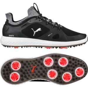 プーマ メンズ シューズ・靴 ゴルフ IGNITE PWRADAPT Golf Shoes Black/White|fermart-shoes