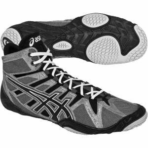 アシックス ASICS メンズ シューズ・靴 レスリング Omniflex-Attack Wrestling Shoe Grey/Black|fermart-shoes