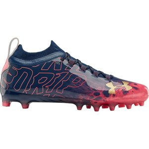 アンダーアーマー Under Armour メンズ アメリカンフットボール シューズ・靴 Spotlight Lux LE MC Football Cleats Blackout Navy/Peach Horizon|fermart-shoes