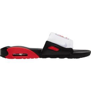 ナイキ Nike メンズ サンダル エアマックス 90 シューズ・靴 Air Max 90 Slides Black/Chile Red/White|fermart-shoes