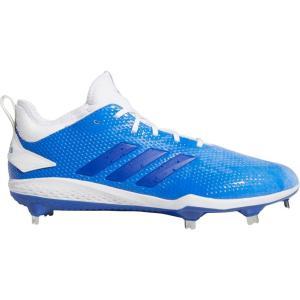 アディダス adidas メンズ 野球 スパイク シューズ・靴 adiZERO Afterburner Splash Metal Baseball Cleats Blue/White|fermart-shoes