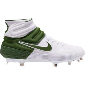ナイキ Nike メンズ 野球 スパイク シューズ・靴 Alpha Huarache Elite 2 Mid Metal Baseball Cleats White/Green|fermart-shoes