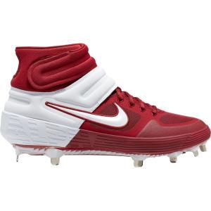 ナイキ Nike メンズ 野球 スパイク シューズ・靴 Alpha Huarache Elite 2 Mid Metal Baseball Cleats Crimson/White|fermart-shoes