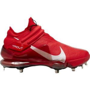ナイキ Nike メンズ 野球 スパイク シューズ・靴 Force Zoom Trout 7 Metal Baseball Cleats Red/White|fermart-shoes