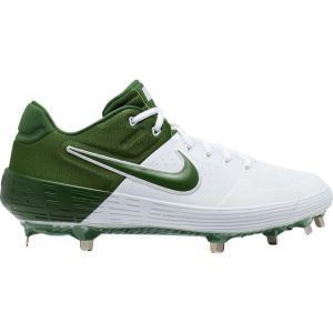 ナイキ Nike メンズ 野球 スパイク シューズ・靴 Alpha Huarache Elite 2 Metal Baseball Cleats White/Green|fermart-shoes