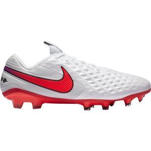 ナイキ Nike メンズ サッカー スパイク シューズ・靴 Tiempo Legend 8 Elite FG Soccer Cleats White/Red|fermart-shoes