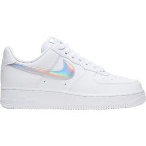 ナイキ Nike レディース スニーカー エアフォースワン シューズ・靴 Air Force 1 '07 Essential Iridescent Shoes White/White/Iridescent|fermart-shoes