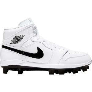 ナイキ ジョーダン Jordan メンズ 野球 スパイク シューズ・靴 1 Retro Mid MCS Baseball Cleats White/Black|fermart-shoes
