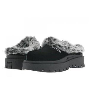 スケッチャーズ レディース サンダル・ミュール シューズ・靴 Shindigs - Fortress Black Suede|fermart-shoes