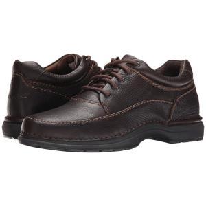 ロックポート メンズ 革靴・ビジネスシューズ シューズ・靴 World Tour Elite Encounter Dark Brown Tumbled Leather|fermart-shoes