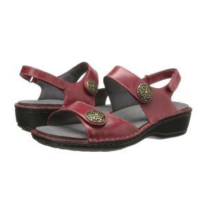 アラヴォン Aravon レディース サンダル・ミュール シューズ・靴 Candace Dark Red fermart-shoes