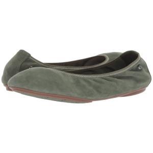 ハッシュパピー Hush Puppies レディース スリッポン・フラット シューズ・靴 Chaste Ballet Dark Olive Suede|fermart-shoes