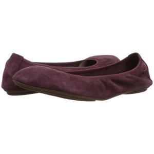 ハッシュパピー Hush Puppies レディース スリッポン・フラット シューズ・靴 Chaste Ballet Dark Wine Suede|fermart-shoes