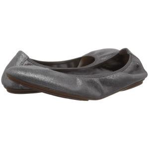 ハッシュパピー Hush Puppies レディース スリッポン・フラット シューズ・靴 Chaste Ballet Dark Grey Metallic Suede|fermart-shoes