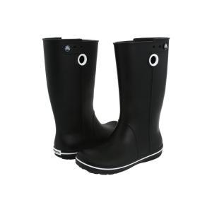 クロックス レディース レインシューズ・長靴 シューズ・靴 Crocband Jaunt Black fermart-shoes
