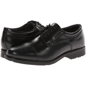 ロックポート Rockport メンズ 革靴・ビジネスシューズ シューズ・靴 Lead The Pack Cap Toe Black WP Leather|fermart-shoes