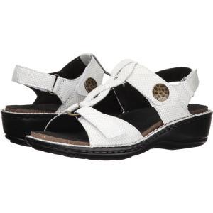 アラヴォン レディース サンダル・ミュール シューズ・靴 Collette-AR White Print|fermart-shoes