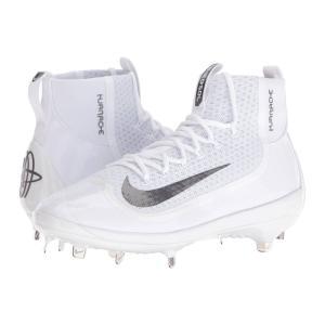 ナイキ メンズ シューズ・靴 野球 Air Huarache 2KFilth Elite Mid White/White/Dark Grey|fermart-shoes