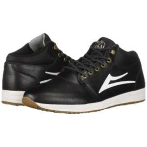 ラカイ Lakai メンズ スニーカー シューズ・靴 Griffin Mid Weather Treated Black Leather 1|fermart-shoes