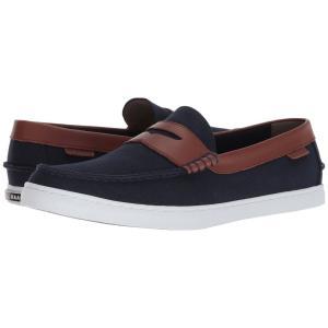 コールハーン Cole Haan メンズ ローファー シューズ・靴 Nantucket Loafer II Blazer Blue Textile/Chestnut|fermart-shoes