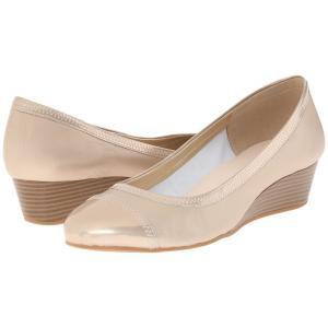 コールハーン レディース ヒール シューズ・靴 Elsie Cap Toe Wedge II Soft Gold Metallic fermart-shoes