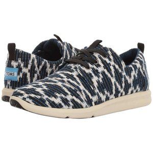 トムズ レディース スニーカー シューズ・靴 Del Rey Sneaker Navy Tribal Jacquard|fermart-shoes