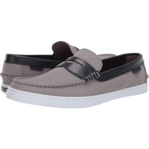 コールハーン Cole Haan メンズ ローファー シューズ・靴 Nantucket Loafer Gray Canvas/Blue Leather|fermart-shoes