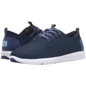 トムズ メンズ スニーカー シューズ・靴 Del Rey Navy Burlap|fermart-shoes