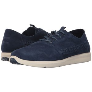 トムズ メンズ スニーカー シューズ・靴 Del Rey Navy Woven Suede|fermart-shoes